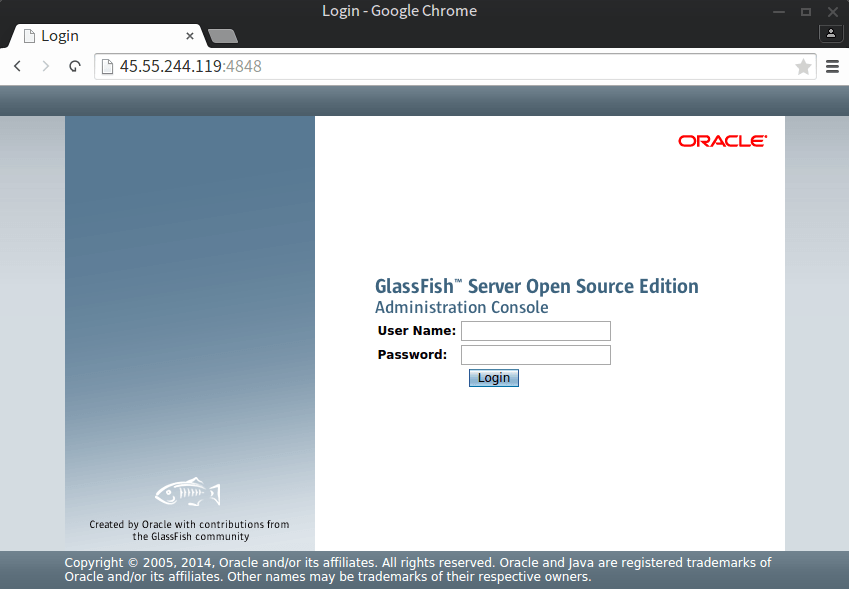 GlassFish Login