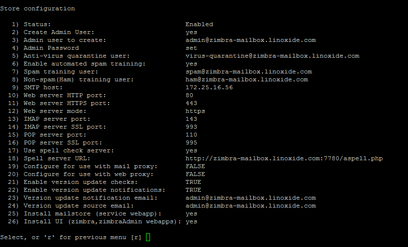 Store Configs