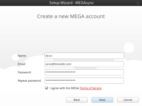 Creating New Account