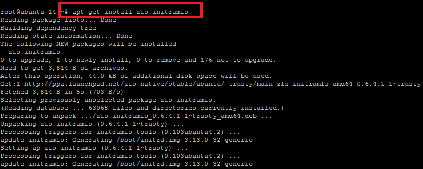 Howto Configure Ubuntu 14 04 to Native ZFS Root Filesystem