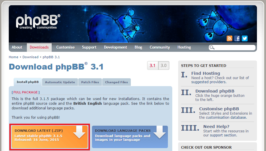 phpBB download