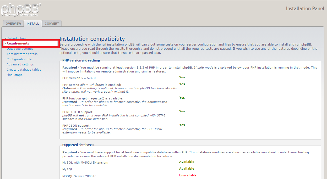 phpBB Compatibility