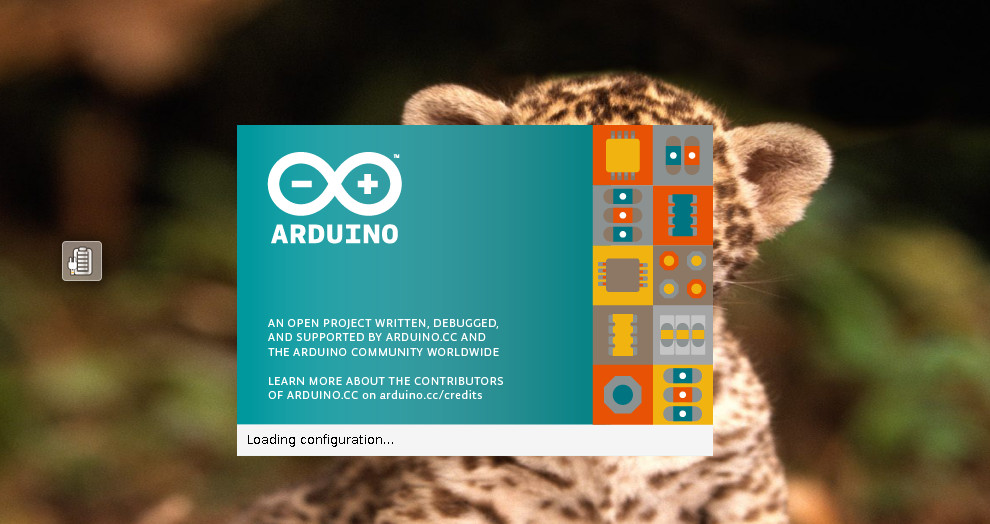 Arduino splash screen