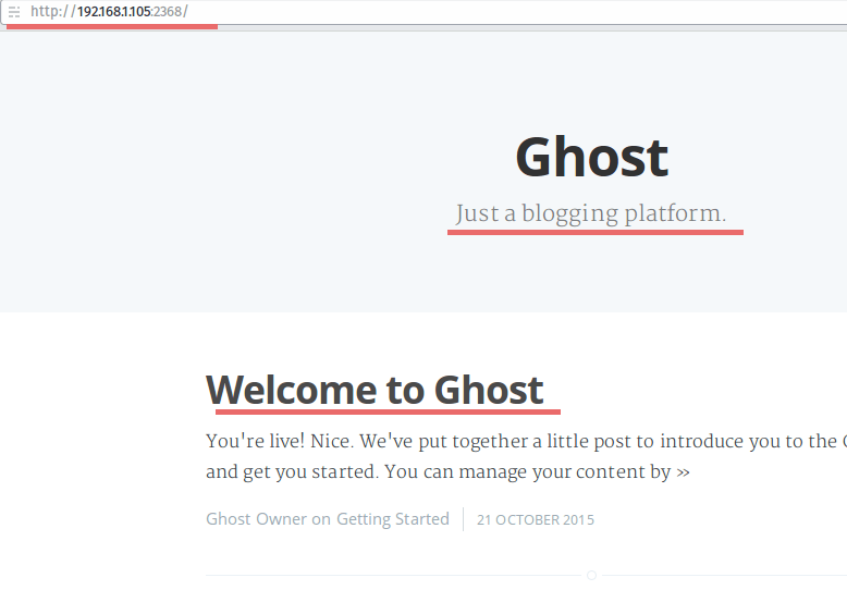 Ghost Installed