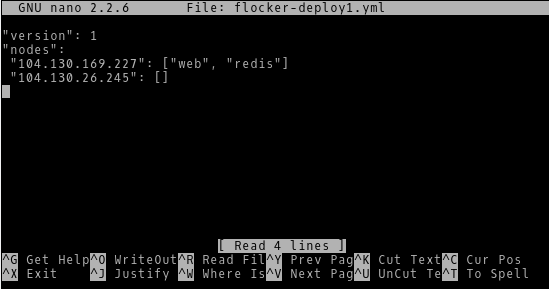 Configuring Flocker Deploy 1