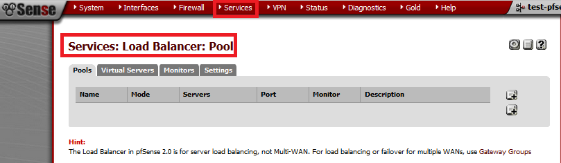 services load balancer