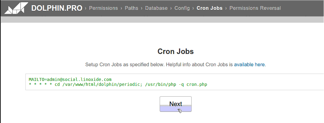 Add Dolphin Cron Jobs