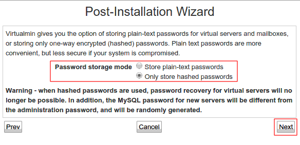 Password Storage Mode