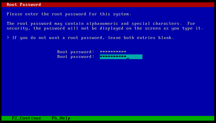 root password