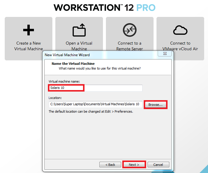 How to Setup VM for Solaris on VMware Workstation 12