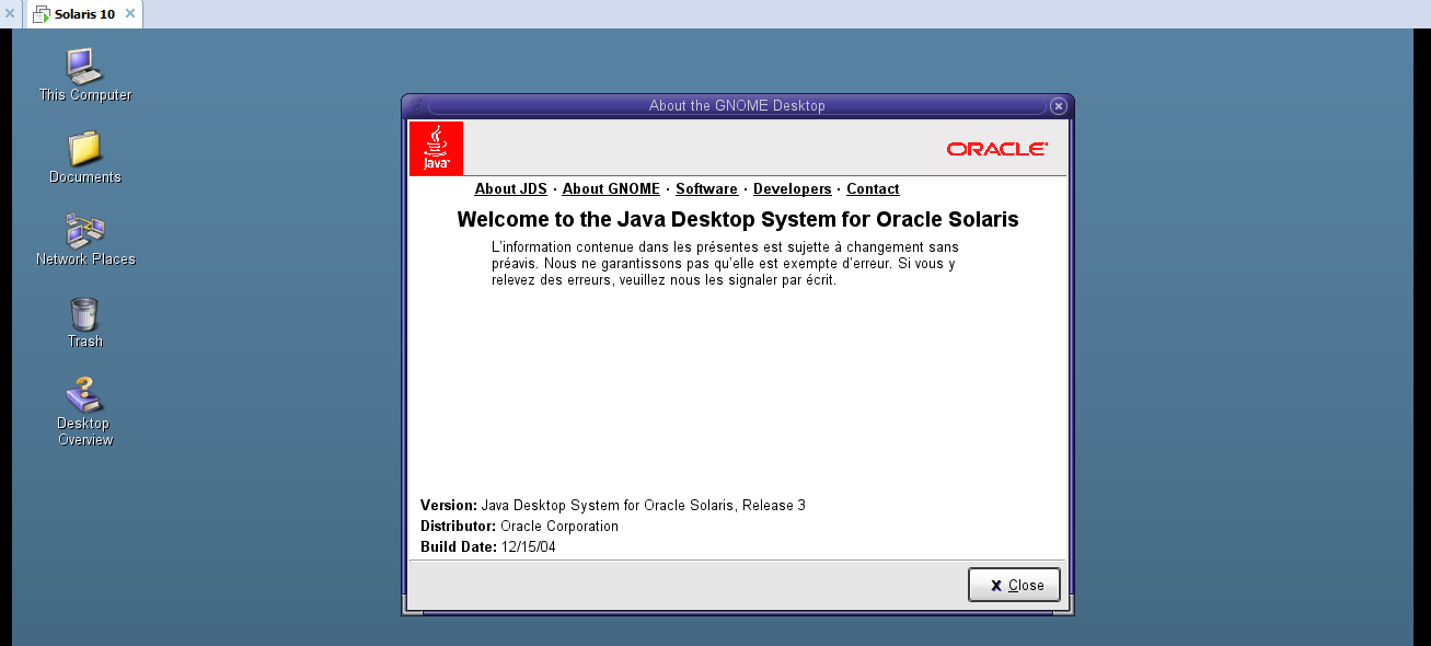 Java Desktop for Solaris