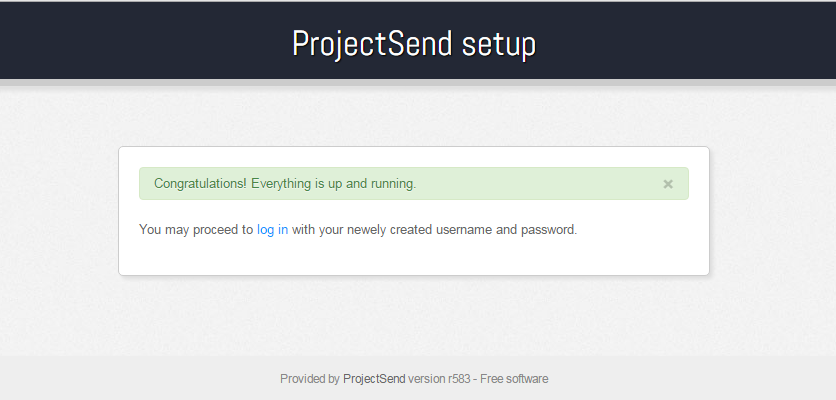 Project Send Installed