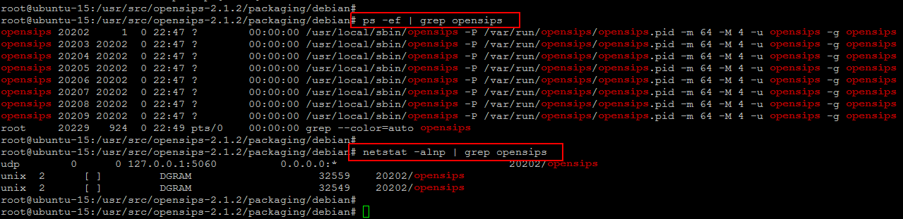 opensips processes