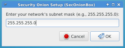 Set network mask