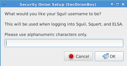 Sguil username