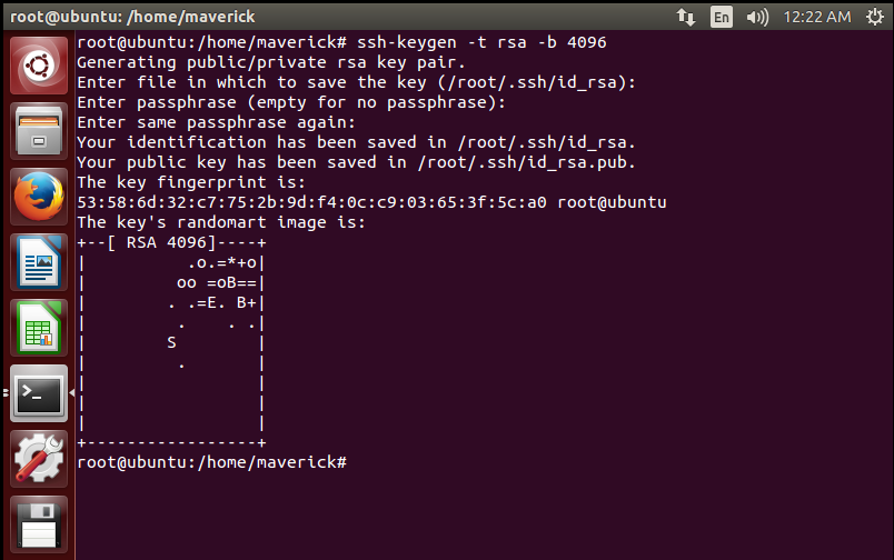 5.Key Generation for SSH Server