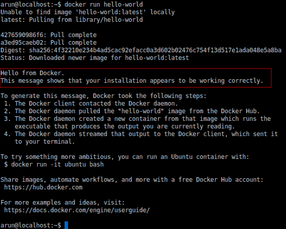 Hello World Docker