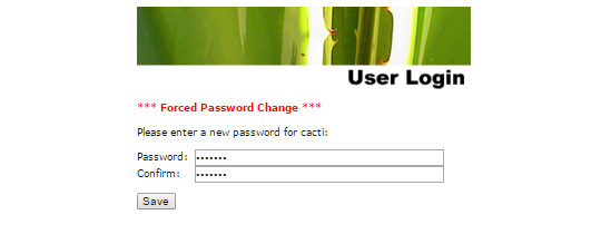 cacti password