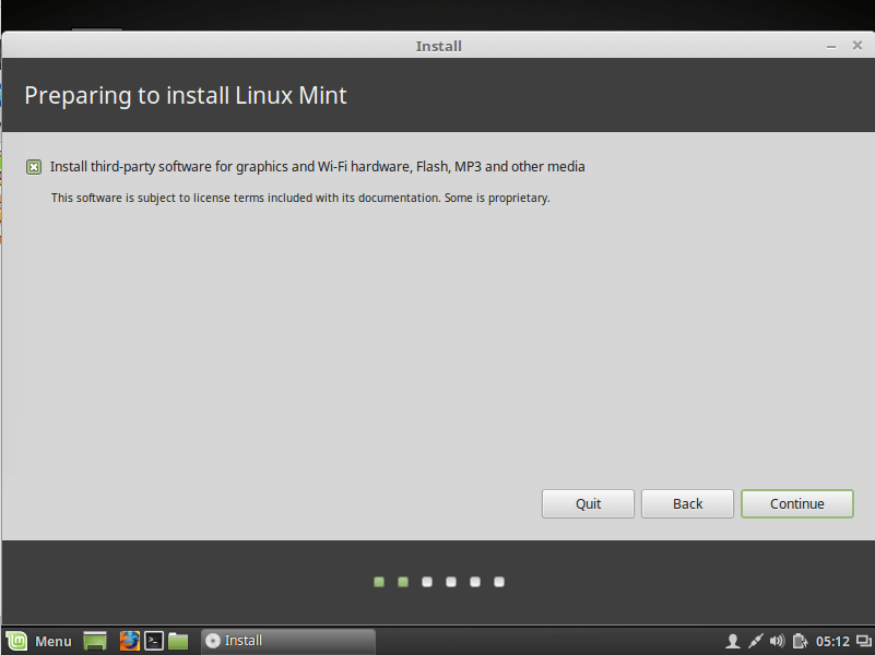 how to start linux mint from usb