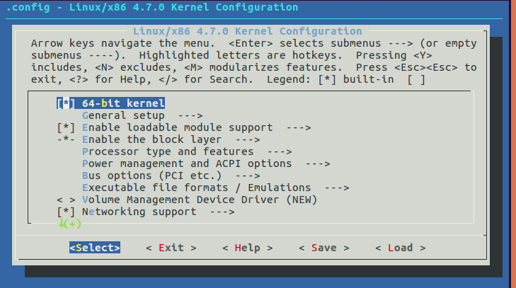 Kernel Config options