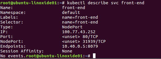 kubectl-describe-service