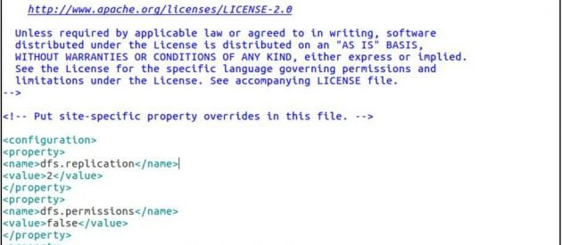 hdfs site file