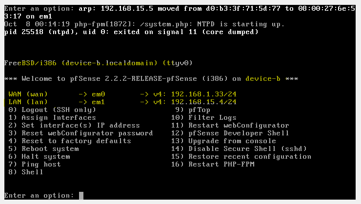 interface settings pfsense2