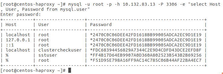 query from haproxy node