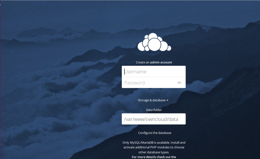web-interface-for-ownCloud