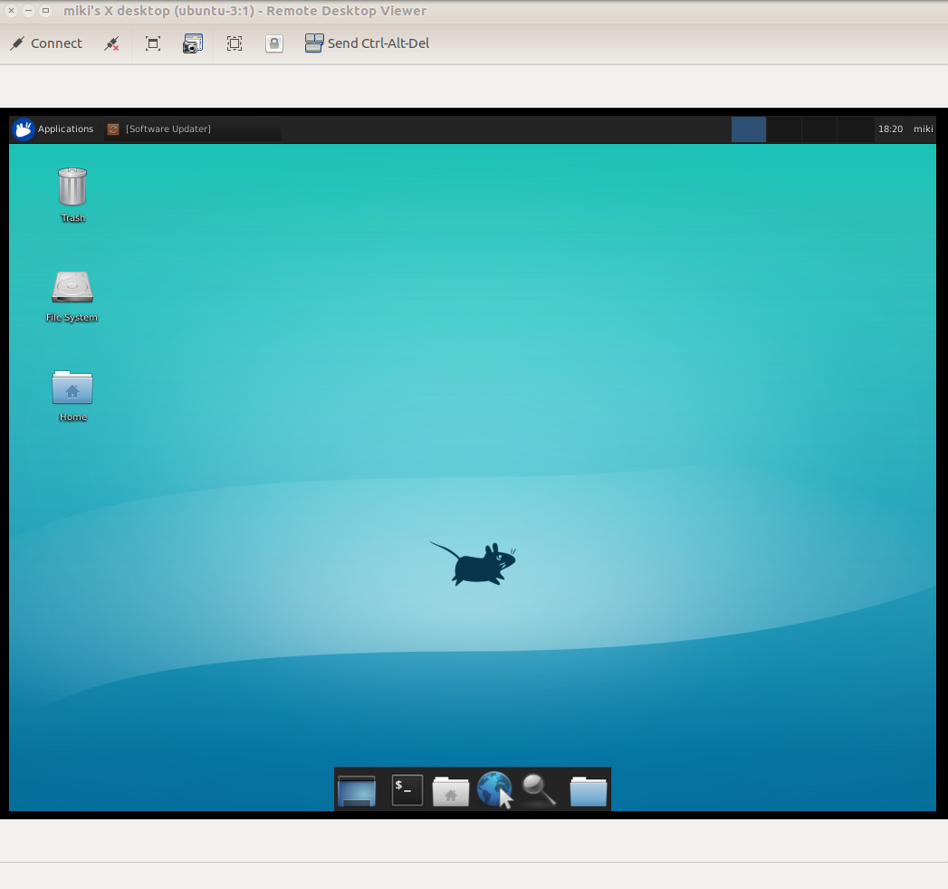XFCE working over VNC server
