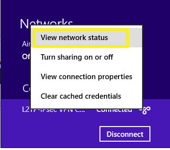 viewing connection properties