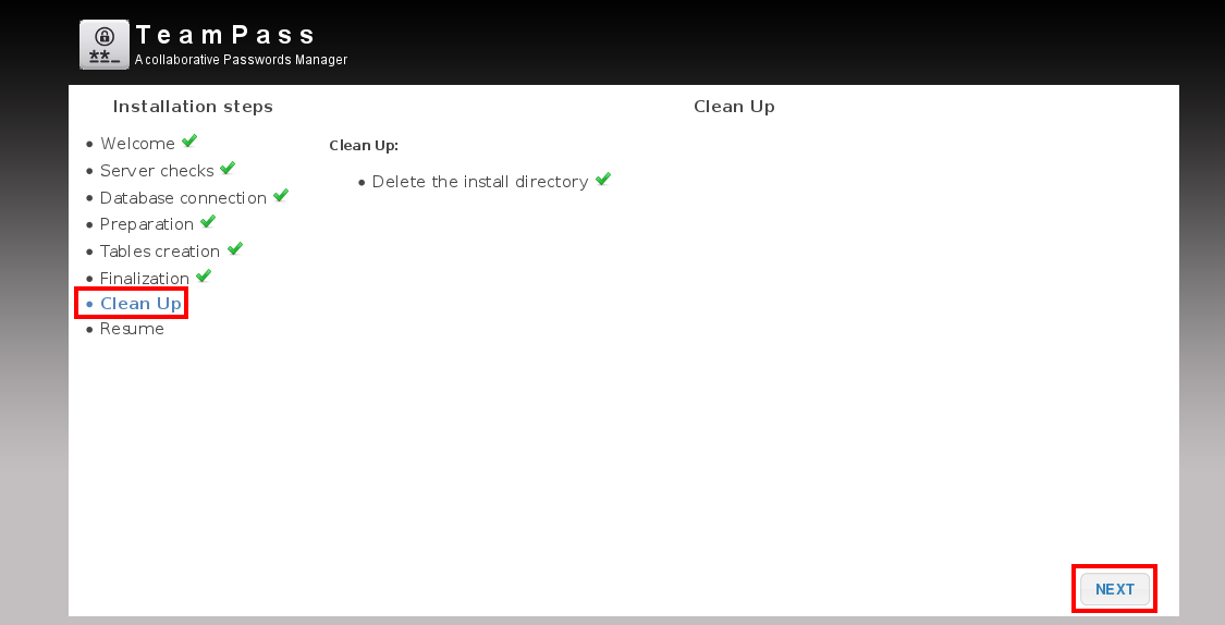 Teampass cleanup