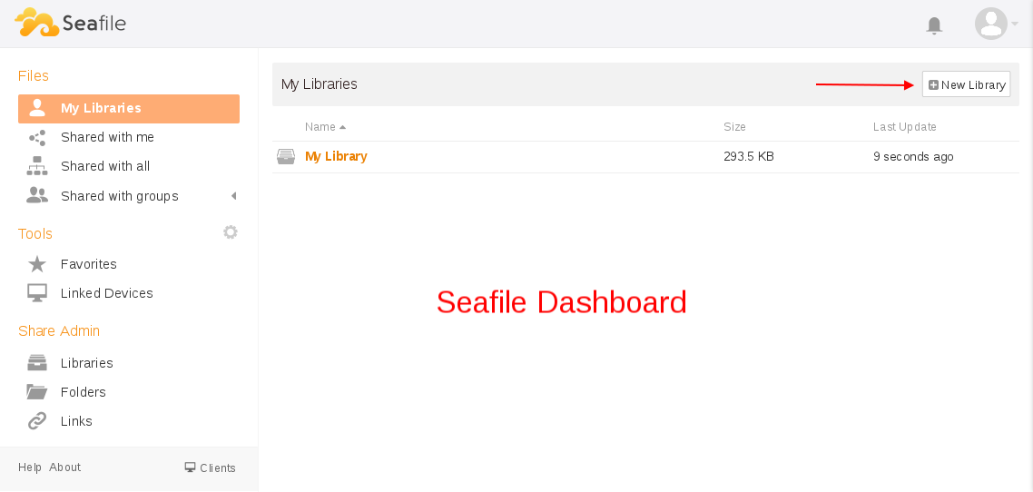 Seafile Dashboard