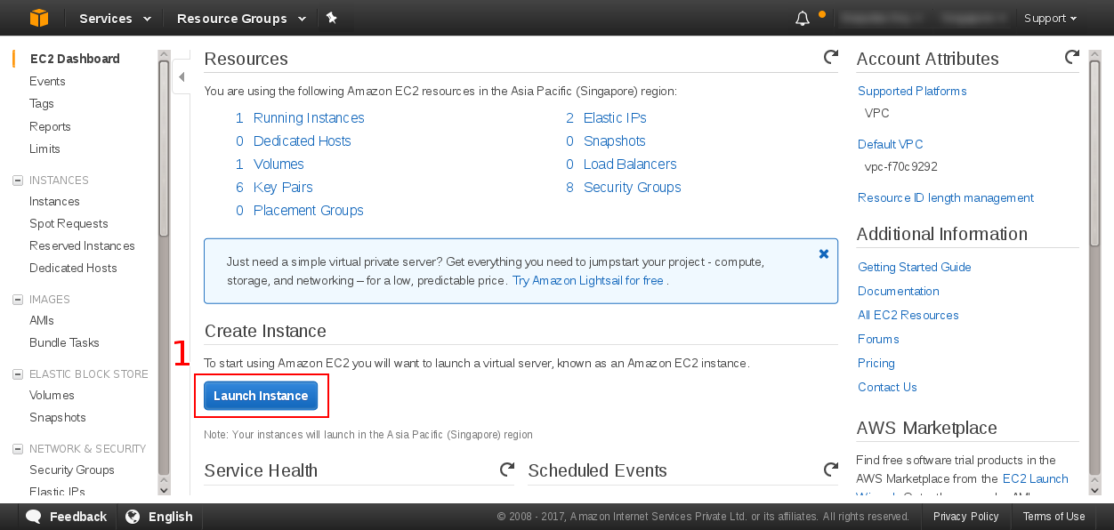 Launch ec2 instance
