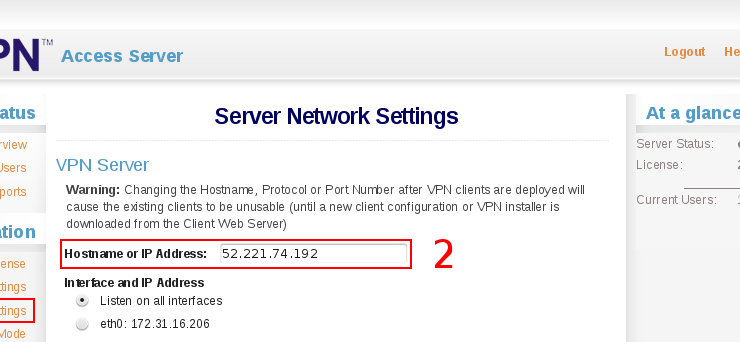 OpenVPN AS change hostname