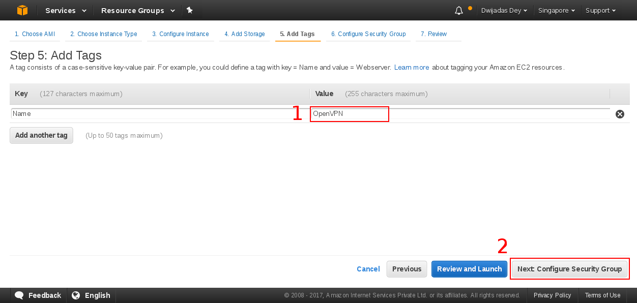 Add tag to EC2 instance