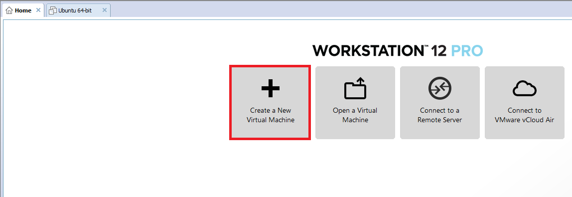 new VM in Workstation