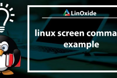 linux screen command examples