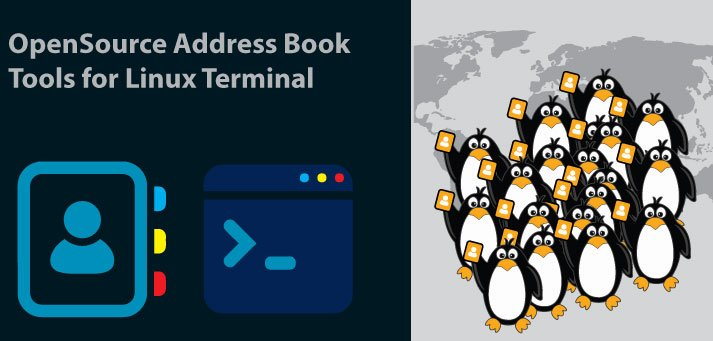 linux terminal address book