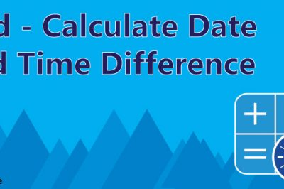 pdd calculate date time difference