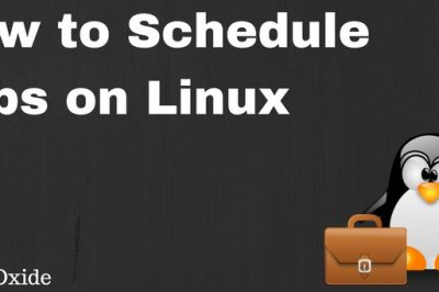 schedule jobs linux