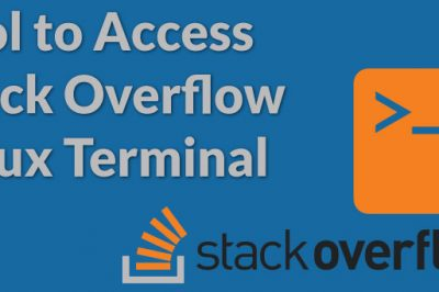 stack overflow command line
