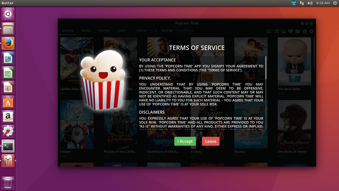 How to Install Popcorn Time on Ubuntu 16, Mint 18, Kali Linux