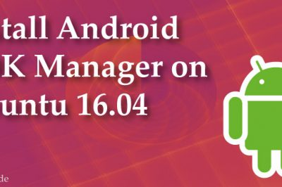 Android SDK Manager install