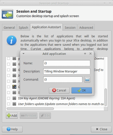 application autostart