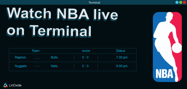 How to Watch Real Time NBA Games from Terminal