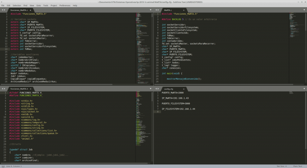 sublime text layout example