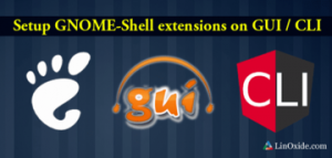 Install GNOME Shell Extensions