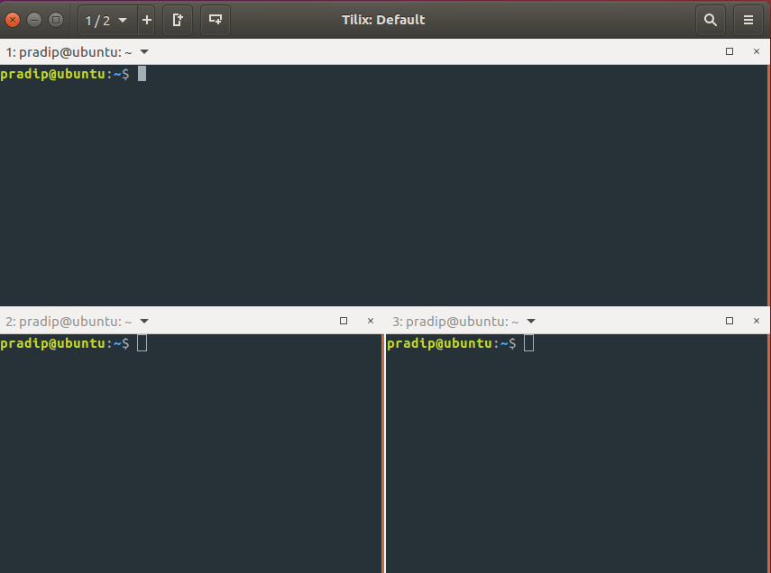 Multiple terminal on one with multiple pane
