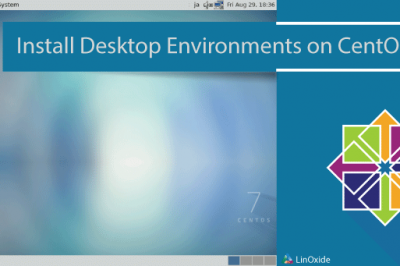 desktop environments centos 7